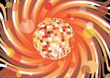 Free Disco Ball With Abstract Background Stock Photography - 16217102