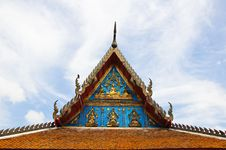 Free Gable Of Thai Temple Royalty Free Stock Images - 16217189