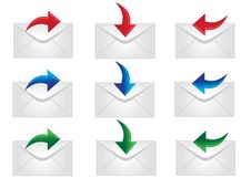 Free Mail Icons Royalty Free Stock Photo - 16217205