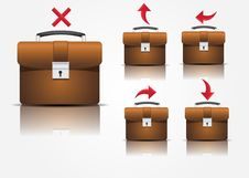 Free Suitcase Icons Royalty Free Stock Image - 16217216