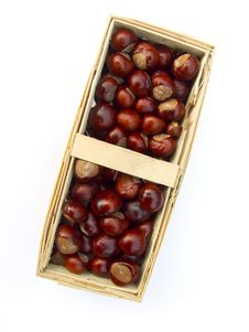 Free Chestnuts In A Basket Stock Images - 16217474