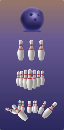 Free Illustration Of Bowling Royalty Free Stock Images - 16217639