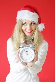 Free Santa Girl Stock Photography - 16217762