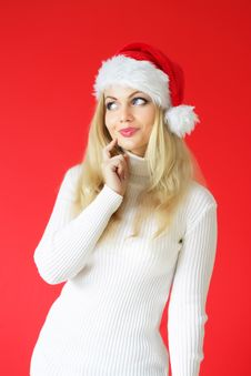 Free Santa Girl Stock Photography - 16217802