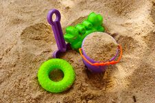 Free Toys In The Sand Stock Photography - 16218142