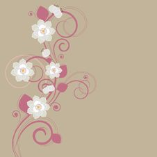 Free Floral Decorative Background Royalty Free Stock Photos - 16219038