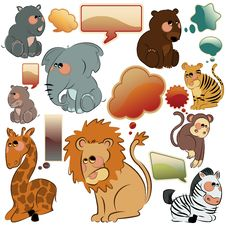 Free Wild Animals Vector Set Royalty Free Stock Photography - 16219177