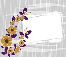 Free Floral Frame Vector Stock Photography - 16219272