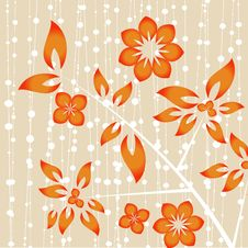 Free Floral Design Vector Royalty Free Stock Photo - 16219335