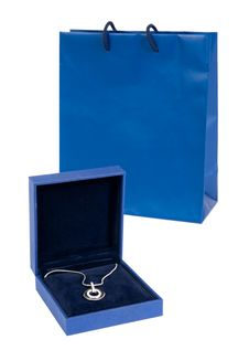 Necklace With Gift Bag Stock Image