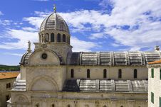 Cathedral In The City Of Sibenik. Croatia Royalty Free Stock Photos