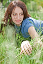 Free Girl On Green Grass Royalty Free Stock Photography - 16225857