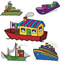 Free Color Ships Collection Royalty Free Stock Photo - 16227495