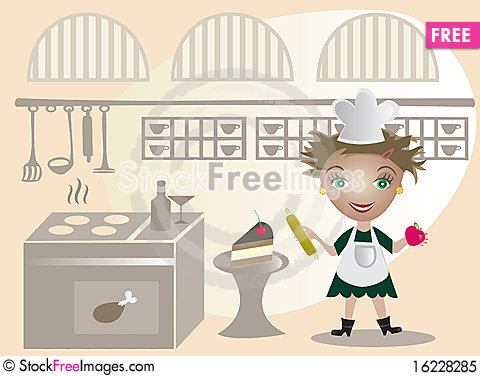 Free Little Cook Royalty Free Stock Photo - 16228285