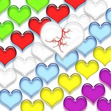 Free Multi-colored Hearts Stock Images - 16220244