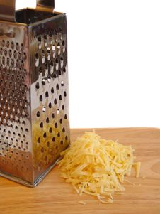 Grated Cheese Stock Image