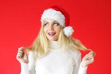 Free Santa Girl Royalty Free Stock Images - 16220379