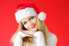 Free Santa Girl Royalty Free Stock Photography - 16220427
