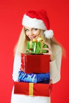 Free Santa Girl Stock Images - 16220434