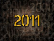 2011 Year Grunge Background Royalty Free Stock Image