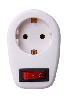 Electrical Outlet With Switch Stock Photos