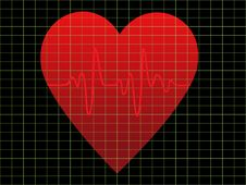 Free EKG Or Heart Monitor Royalty Free Stock Images - 16223189