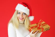 Free Santa Girl Holding Gifts Stock Photo - 16223310