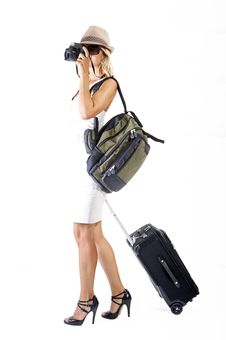Free Travelling Woman Royalty Free Stock Photos - 16223328