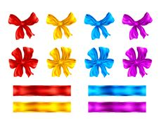 Bows And Ribbons Stock Photos