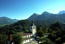 Free Gruyères Church, Switzerland Royalty Free Stock Photography - 16223697