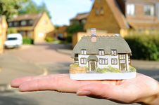 Free Small House In Womans Hand Royalty Free Stock Photo - 16223715