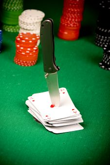 Poker And Knife Royalty Free Stock Image