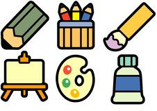 Free Painting Equipment Royalty Free Stock Images - 16226579