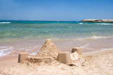 Free Castle From Sand At The Sea Royalty Free Stock Image - 16226586