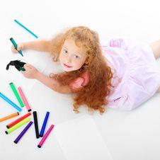 Free Drawing Girl Stock Photos - 16226613