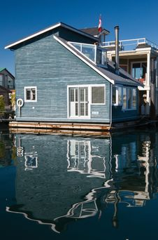 Float Homes Or Marina Village Royalty Free Stock Photography