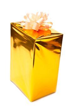 Free Yellow Gift Box Stock Photo - 16227300