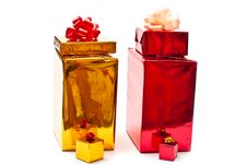 Free Yellow And Red Gifts Royalty Free Stock Photo - 16227335