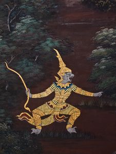 Art Thai Painting Royalty Free Stock Images