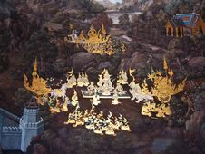 Free Art Thai Painting Stock Images - 16227764
