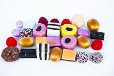 Free Many Candy On White Background.Fruit Snacks Royalty Free Stock Photography - 16227987