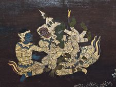 Free Art Thai Painting Stock Photo - 16228010