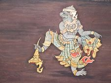 Free Art Thai Painting Stock Photography - 16228012