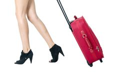 Legs And Bag Royalty Free Stock Photo