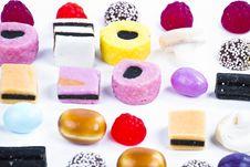 Free Many Candy On White Background.Fruit Snacks Royalty Free Stock Photos - 16228118
