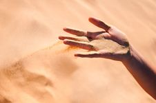 Free Wind Takes Down Send From The Hand Royalty Free Stock Image - 16228126
