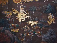 Free Art Thai Painting Royalty Free Stock Photo - 16228165