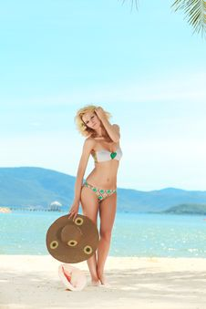 Free Woman On The Beach Royalty Free Stock Images - 16228369
