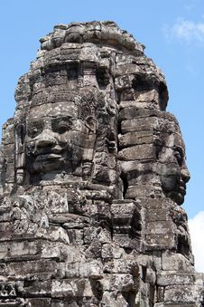 Free Bayon Temple In Angkor Royalty Free Stock Images - 16228799