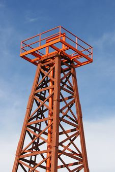Top Of An Old Oil Well Royalty Free Stock Photo